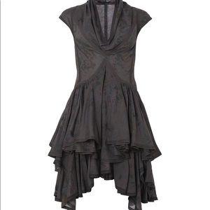All saints spitalfields parachute cowl neck dress